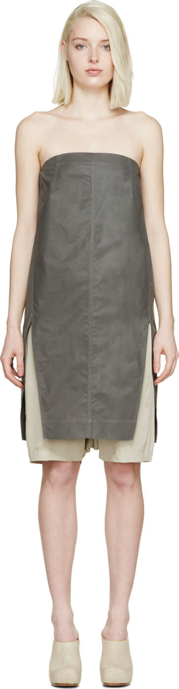 Rick Owens Grey Strapless Chalice Top