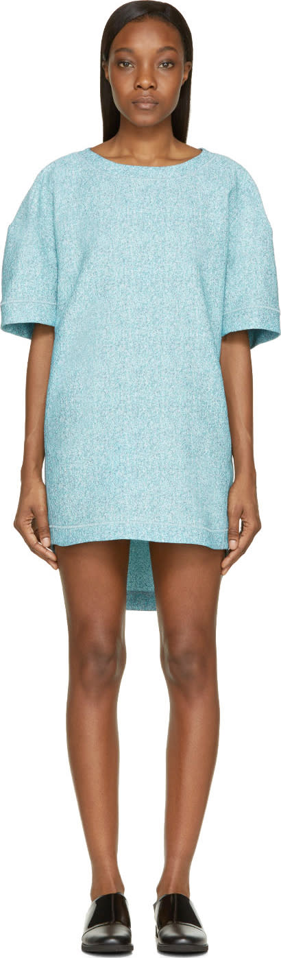 Viktor and Rolf Mint Tweed Jacquard Short Sleeve Dress