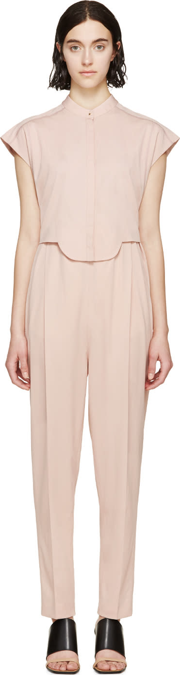 Image of Viktor and Rolf Pink Sleeveless Two-piece Jumpsuit