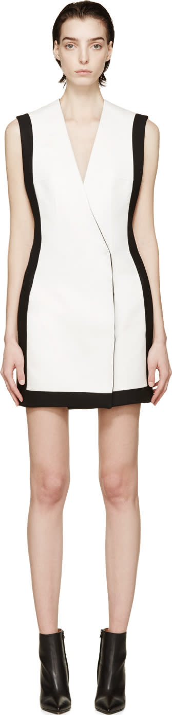 Balmain White Double-breasted Dress