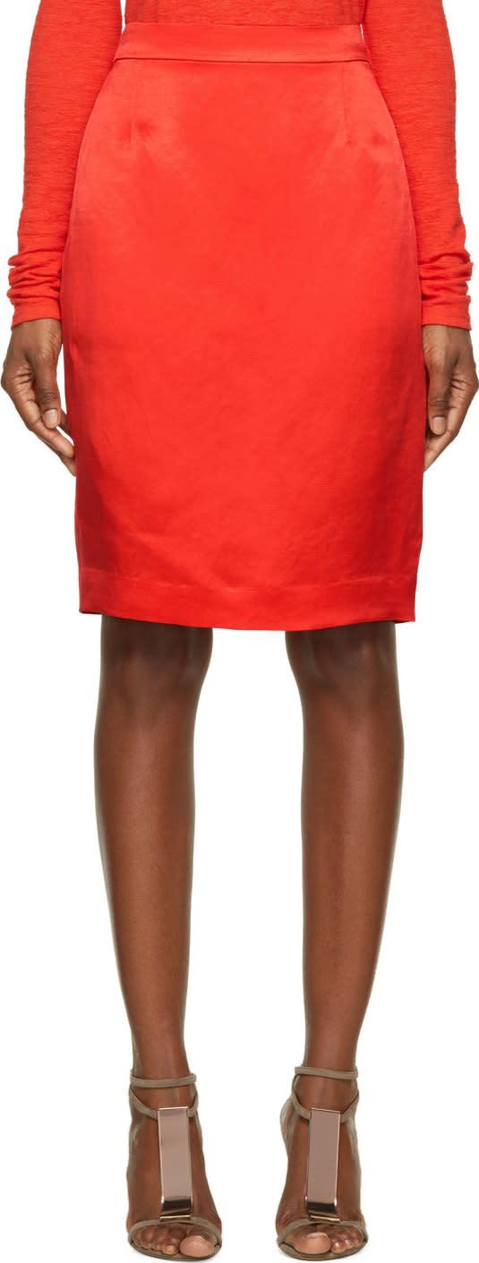Lanvin Red Pencil Skirt