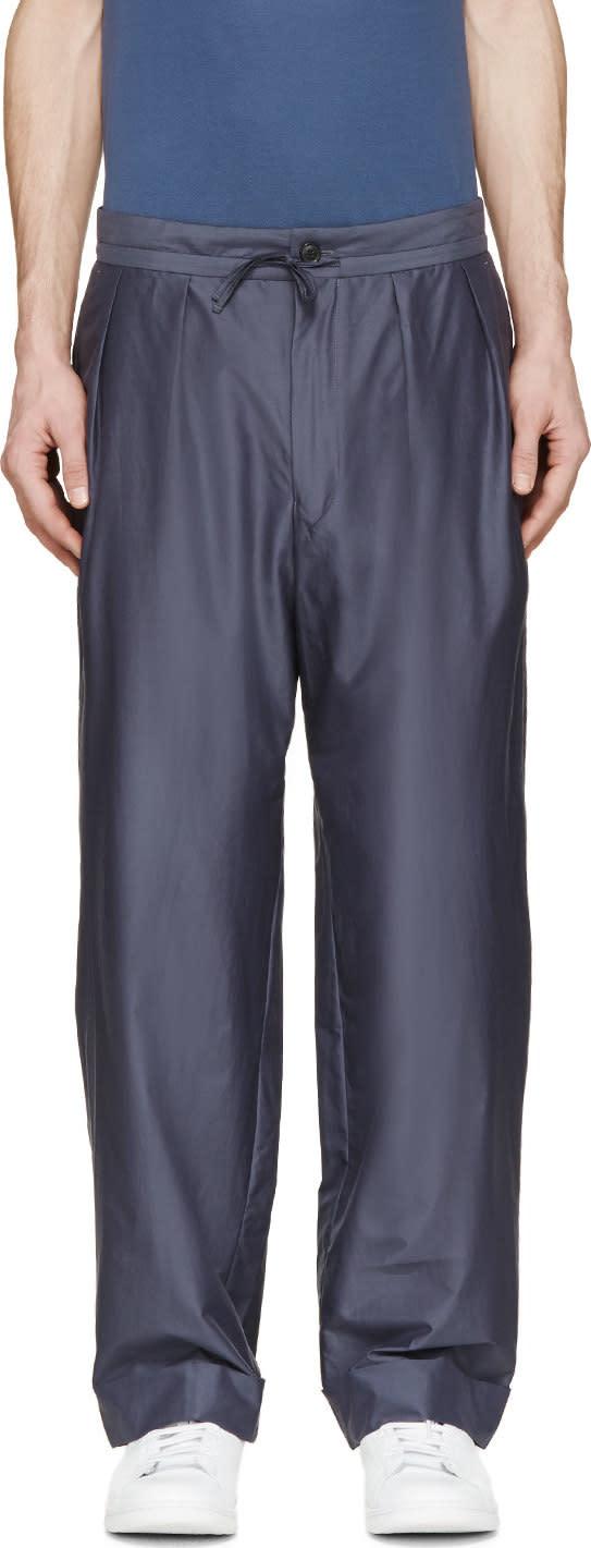Paul Smith Slate Pleated Pillar Suit Trousers