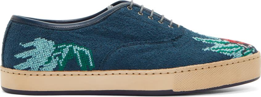 Paul Smith Blue Lady Bug Cross Stitch Shoes