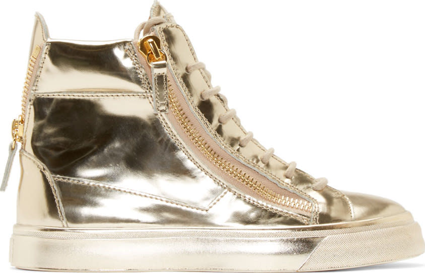 Giuseppe Zanotti Platinum London High-top Sneakers