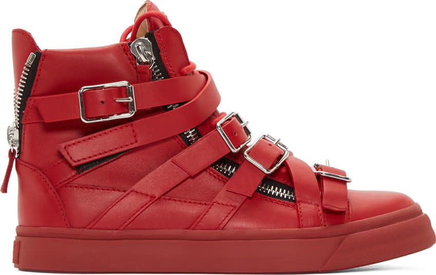 Giuseppe Zanotti Red Strapped London Birel Sneakers