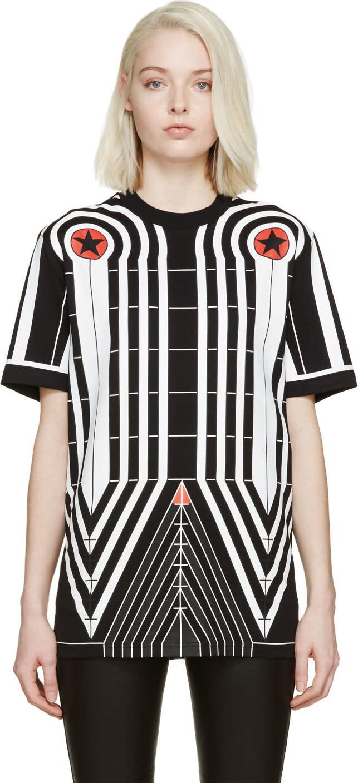 Givenchy Black Stars and Stripes T-shirt