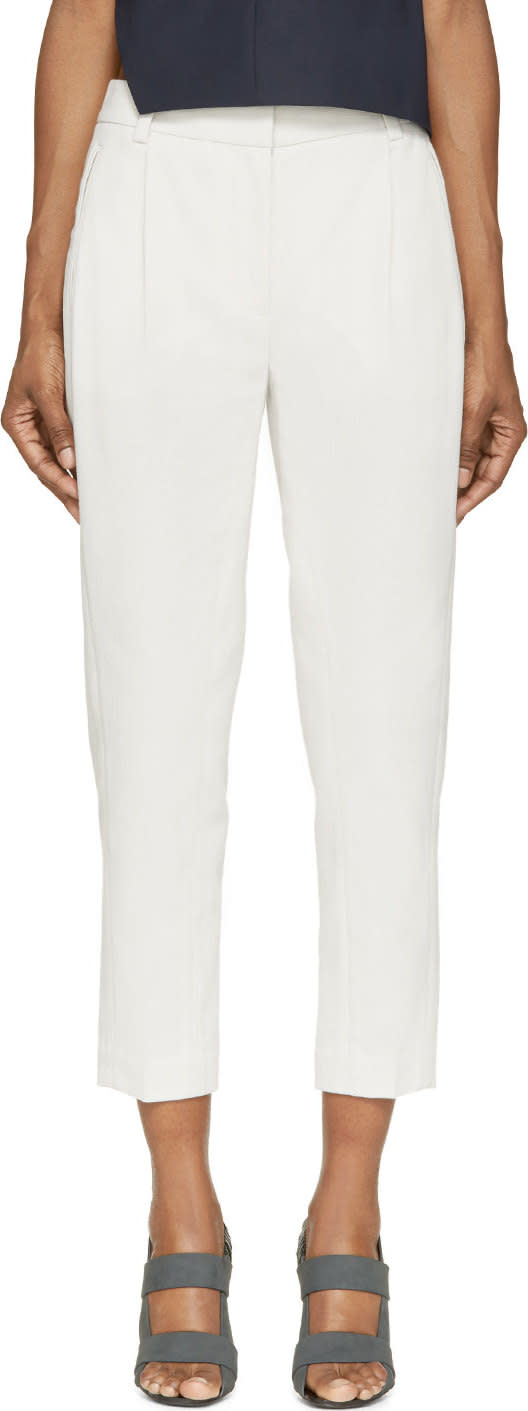 3.1 Phillip Lim Feather Cropped Tapered Trousers