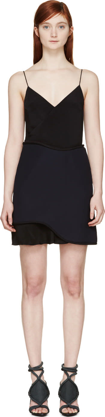 3.1 Phillip Lim Dark Navy Corded Slip Dress