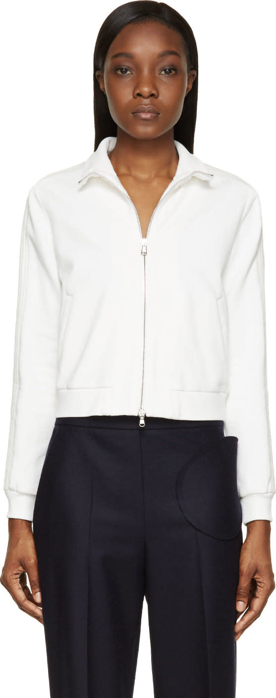3.1 Phillip Lim White French Terry Trapunto Sweater