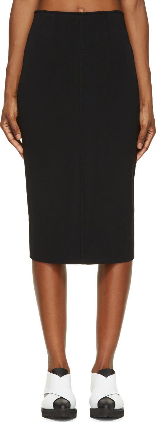 Proenza Schouler Black Knit Pencil Skirt