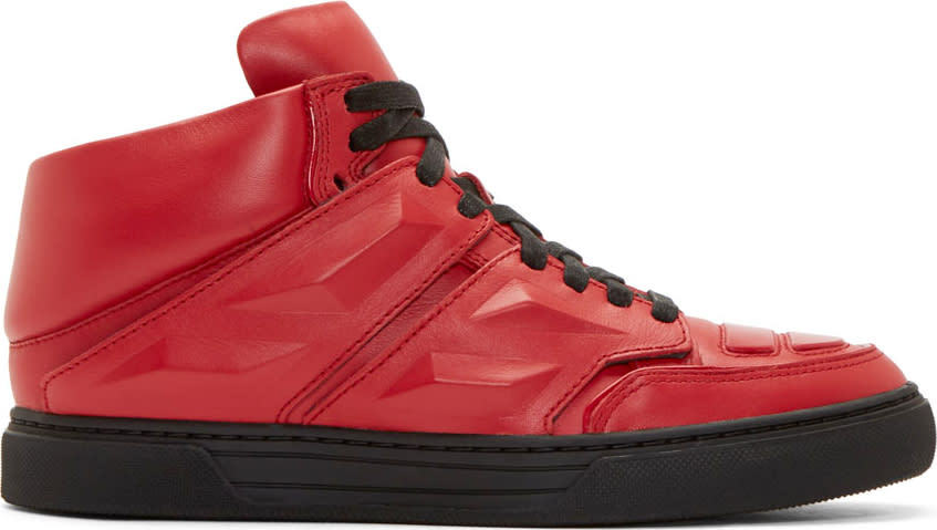 Alejandro Ingelmo Red Leather Exotron Sneakers