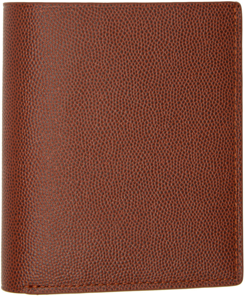 Want Les Essentiels Brown Pebbled Leather Bradley Bifold Wallet
