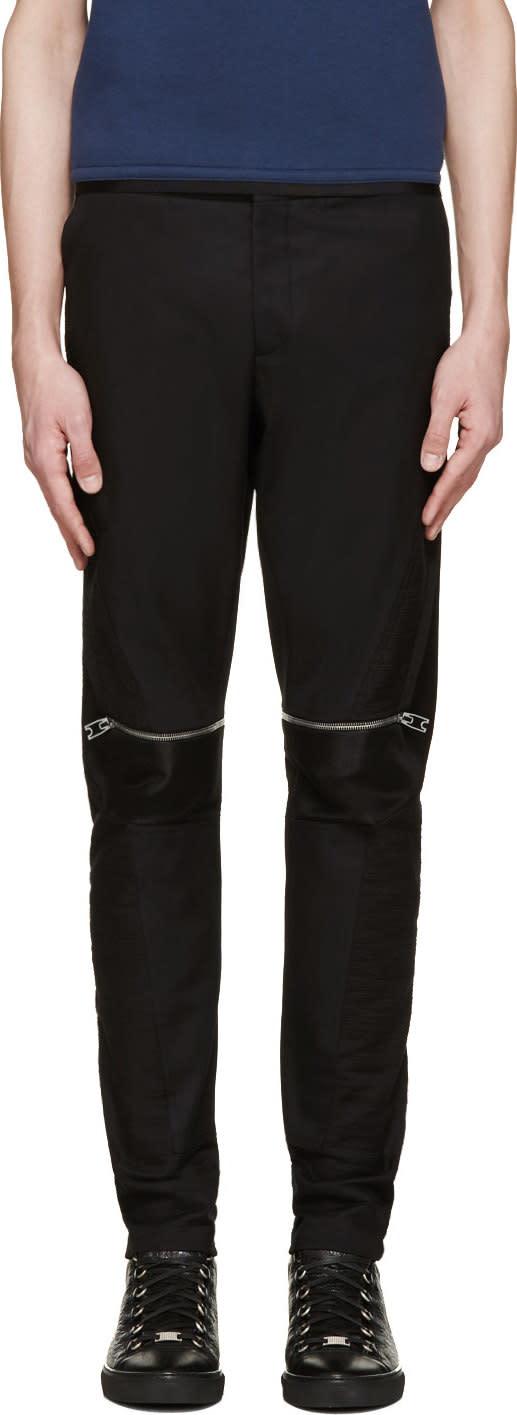Balenciaga Black Biker Zip Trousers