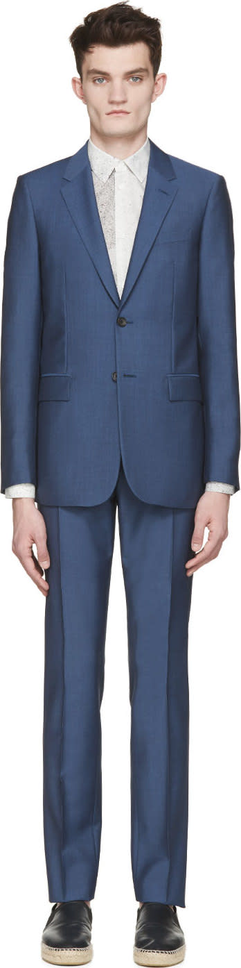 Balenciaga Blue Wool Suit