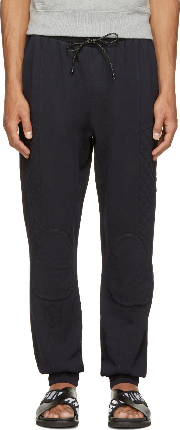 Pierre Balmain Black Quilted Lounge Pants