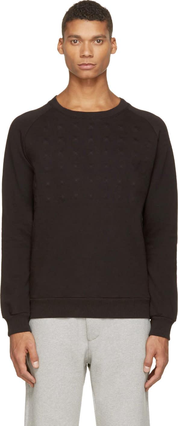 Image of Pierre Balmain Black Covered Stud Sweatshirt