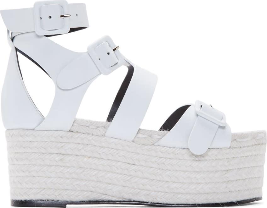 Pierre Hardy White Casual Platform Sandals