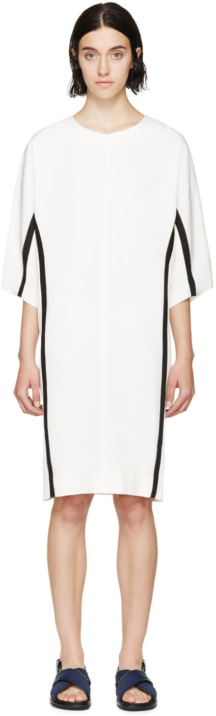 Marni Beige and Black Cocoon Dress