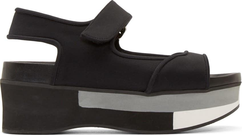 Marni Coal Wedge Platform Sandals