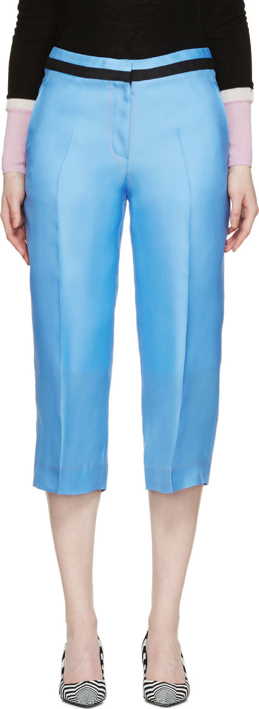 Roksanda Sky Blue Silk Claude Trousers