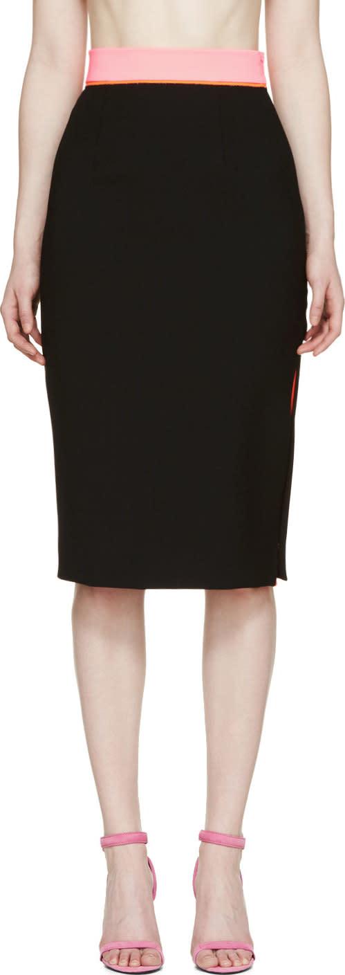 Roksanda Black Crepe Cawsan Skirt