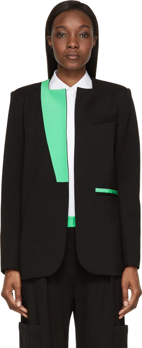 Roksanda Black and Green Colorblock Monfort Jacket