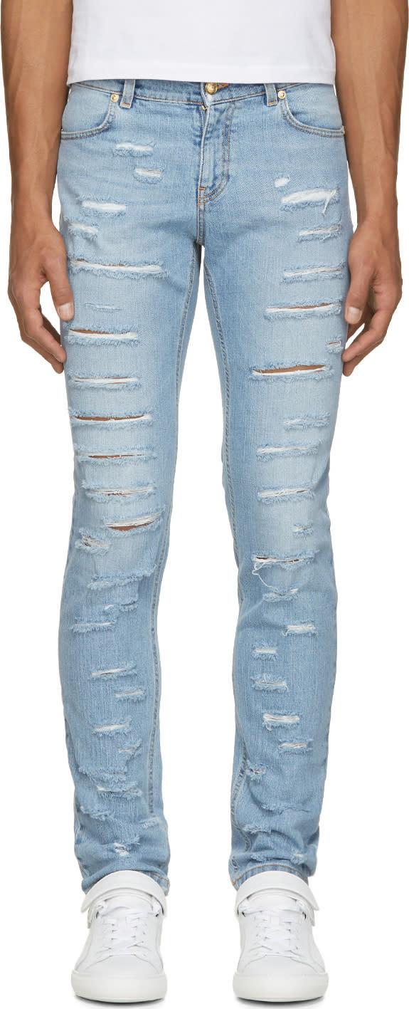 Versus Blue Sliced Jeans