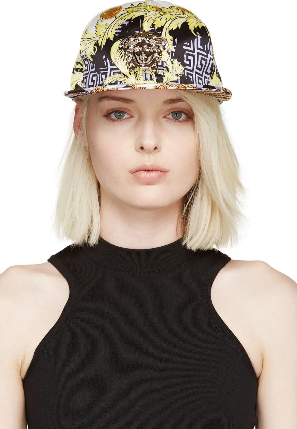 Versace White Printed Medusa Cap