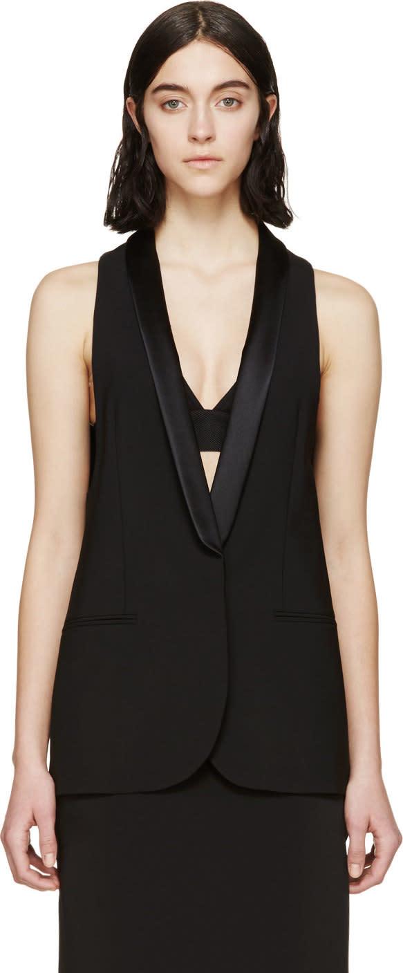 Altuzarra Black Wool Murano Vest