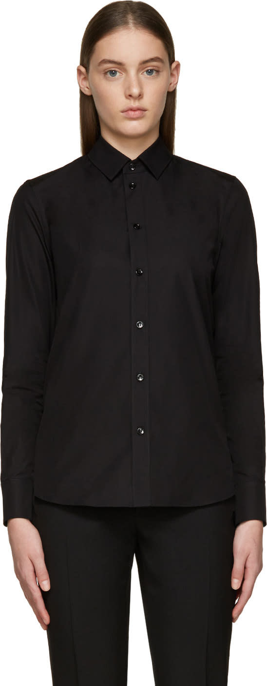 Saint Laurent Black Poplin Shirt