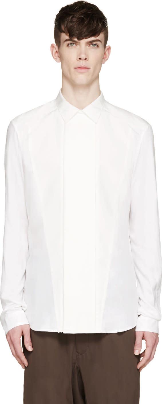 Julius White Button-up Dickie Shirt