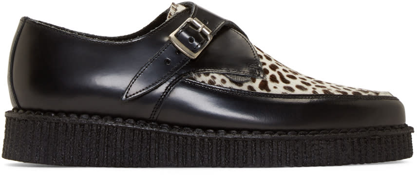 Underground Black Leopard Calf-hair Apollo Creepers