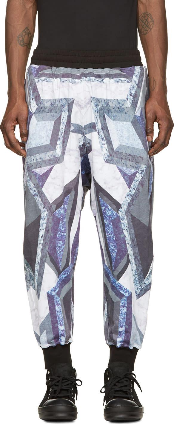 Ktz Purple and Grey Prism Print Lounge Pants