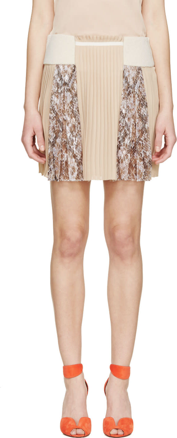Mary Katrantzou Nude Vonga Skirt