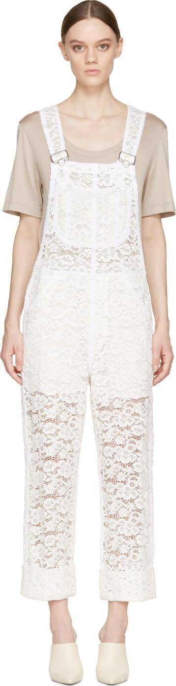 Nina Ricci Ivory Lace Overalls
