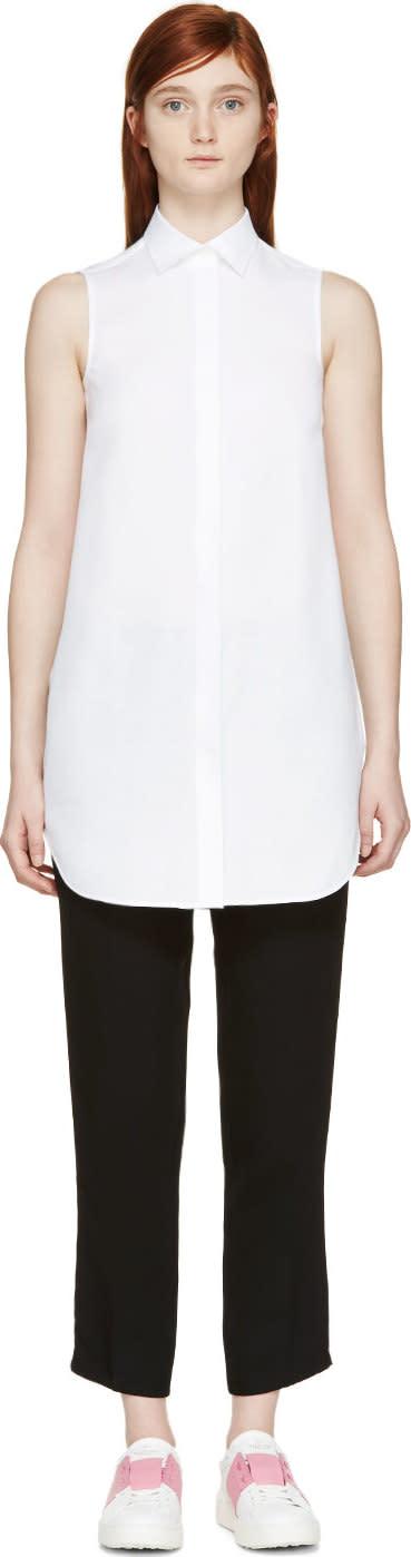 Valentino White Sheer Sleeveless Tunic