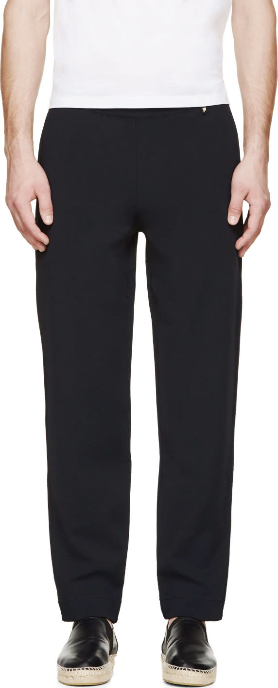 Valentino Navy Blue Slouched Lounge Pants
