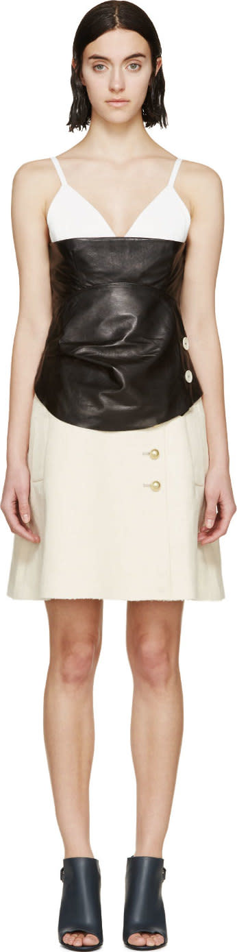 Image of Jw Anderson Black and Cream Layered Dress