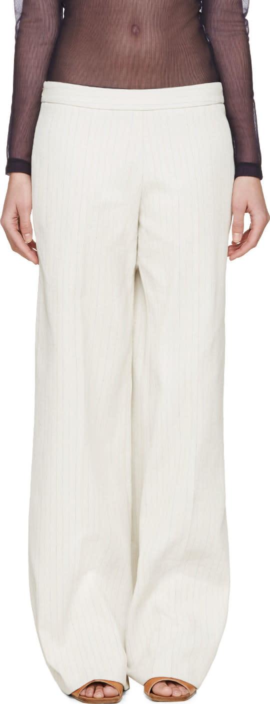 J.w. Anderson Beige Wide-leg Trousers