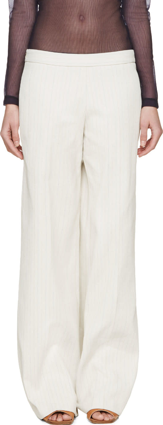 Image of Jw Anderson Beige Wide-leg Trousers