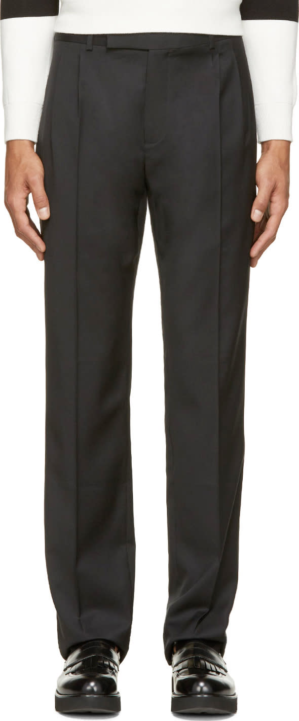 J.w. Anderson Black Wool Classic Trousers