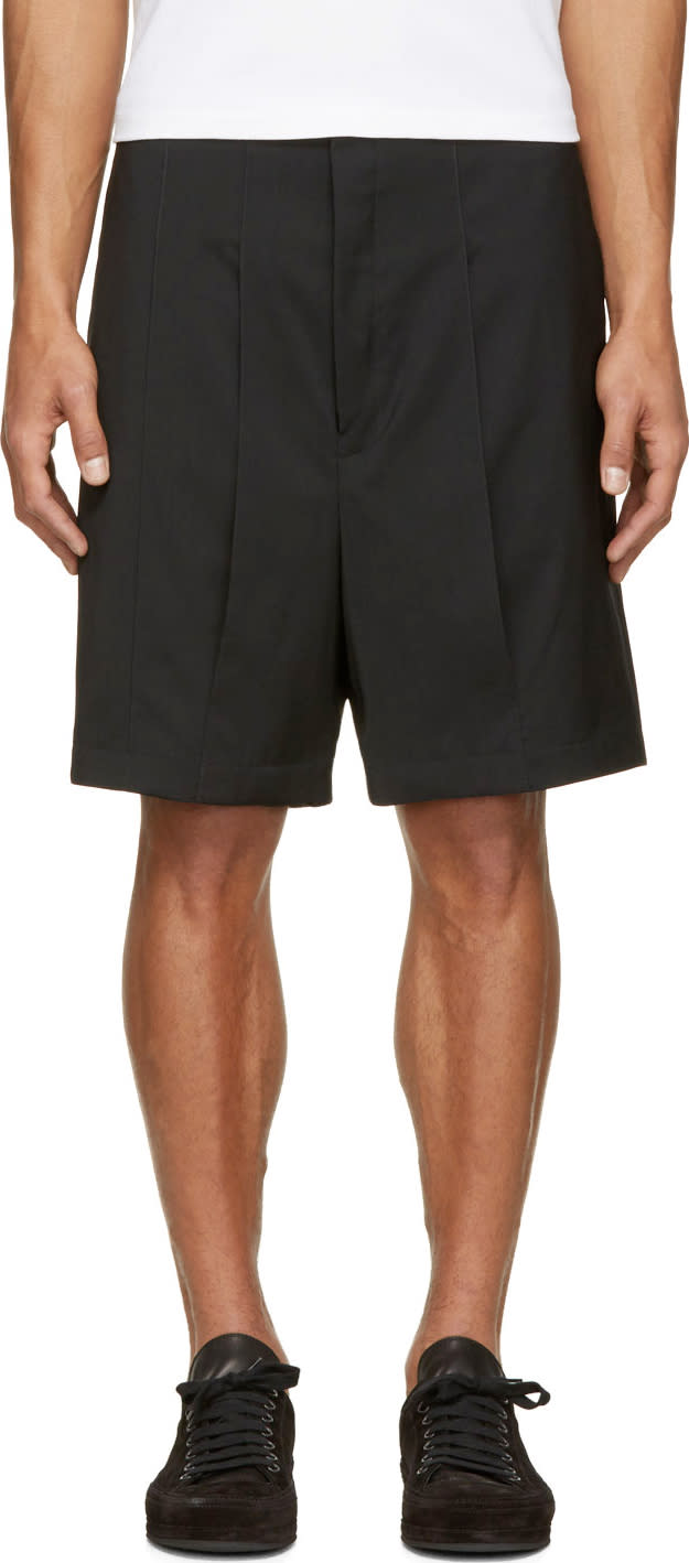 Thamanyah Black Vented Panel Shorts