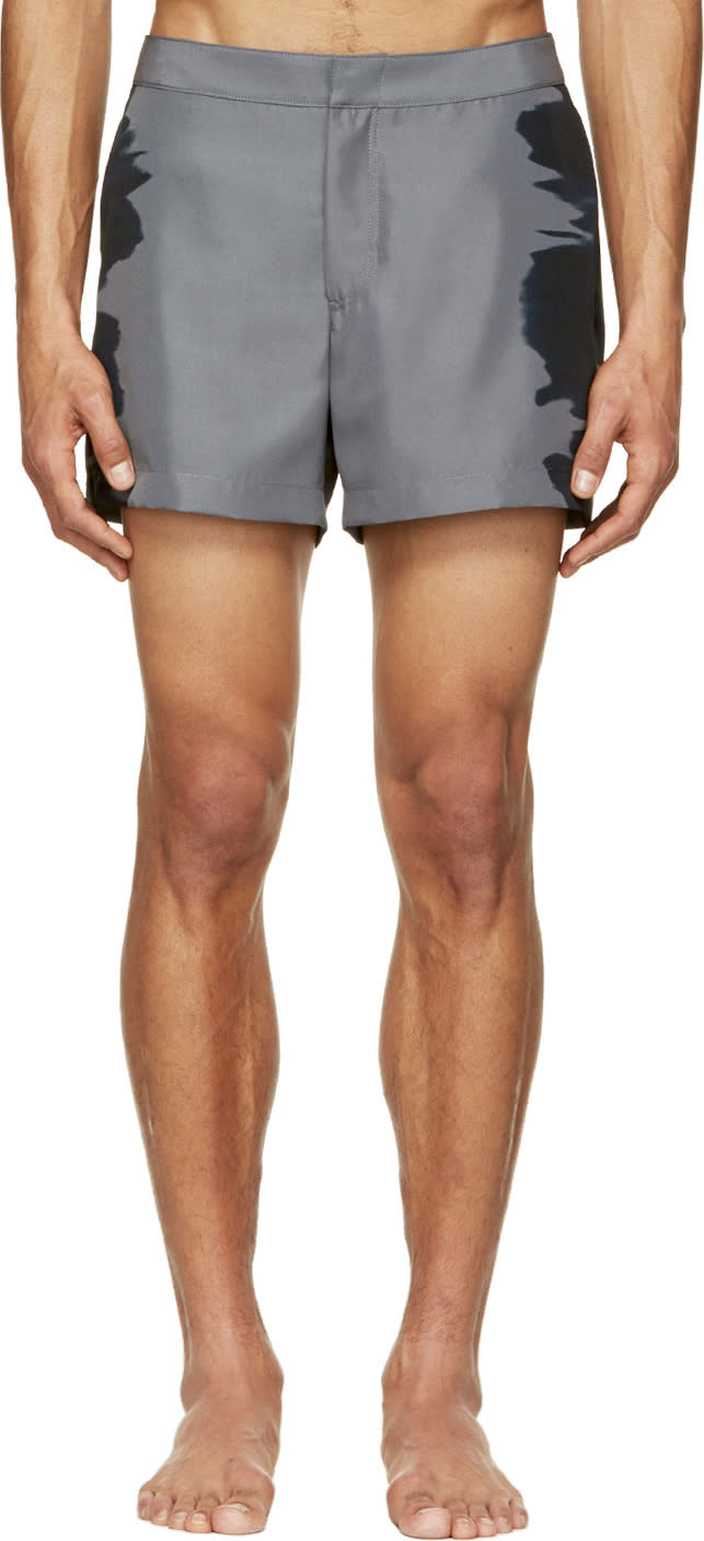 Calvin Klein Collection Dark Grey Water Print Swim Shorts