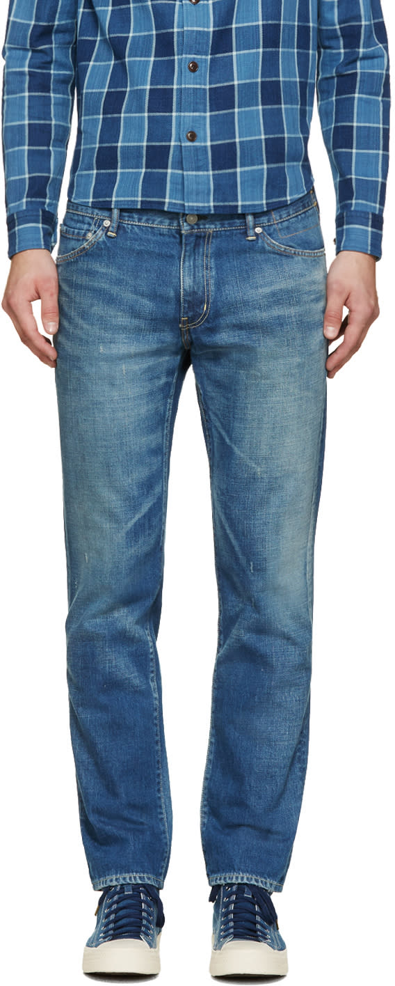 Visvim Blue Damaged 04 Social Sculpture Jeans