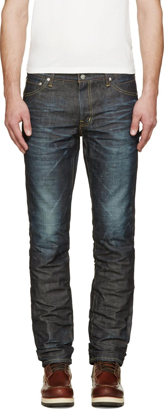Visvim Blue Unwashed 04 Social Sculpture Jeans