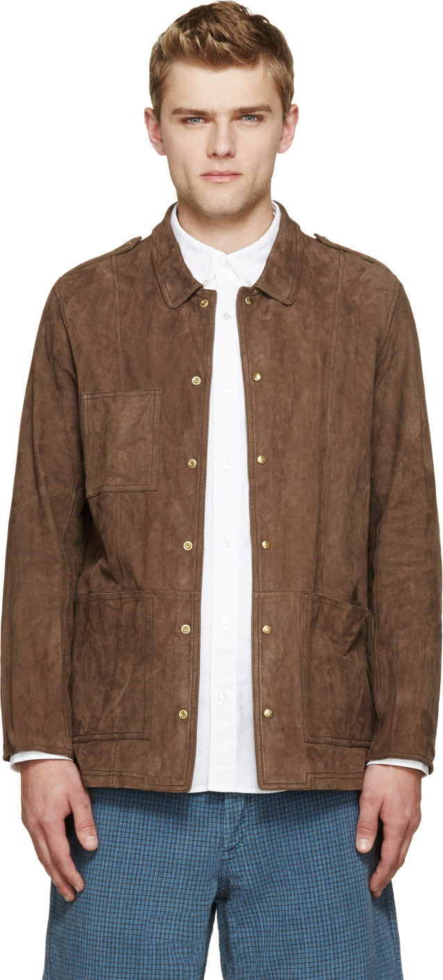 Visvim Brown Nubuck Sundance Jacket