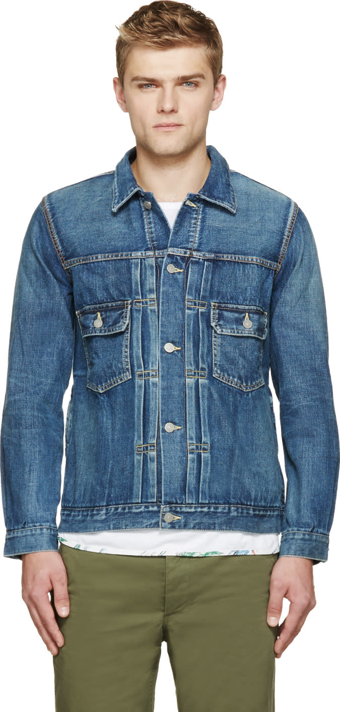 Visvim Blue Denim Damaged Jacket