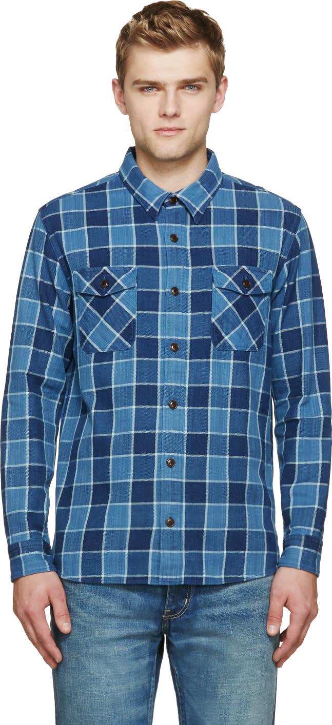 Visvim Indigo Check Elk Shirt