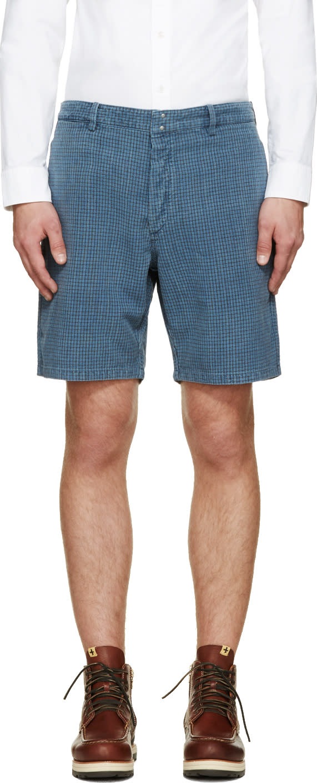 Visvim Indigo Check Pastoral Shorts