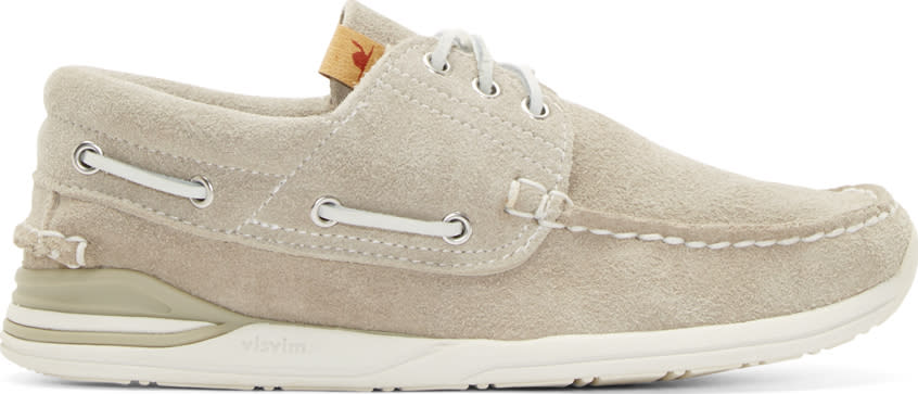 Visvim Grey Suede Hockney Folk Shoes